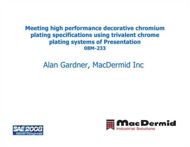 Decorative trivalent chromium plating - Decorative chrome plating ...
